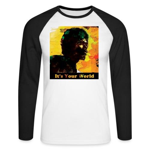 Gil Scott Heron It s Your World - Men's Long Sleeve Baseball T-Shirt