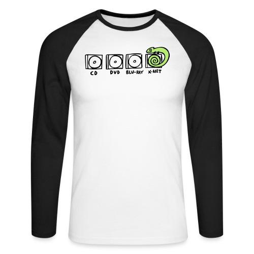 xnet vektormotiv - Männer Baseballshirt langarm
