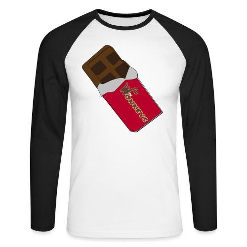 The Wonkeys Chocolate Edition - Maglia da baseball a manica lunga da uomo