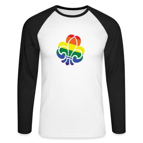 Regnbuespejder tilted - Langærmet herre-baseballshirt