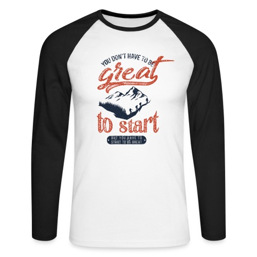 You don't have to be great - Koszulka męska bejsbolowa z długim rękawem