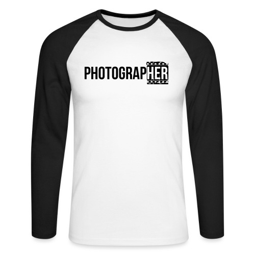 Photographing-her - Men's Long Sleeve Baseball T-Shirt