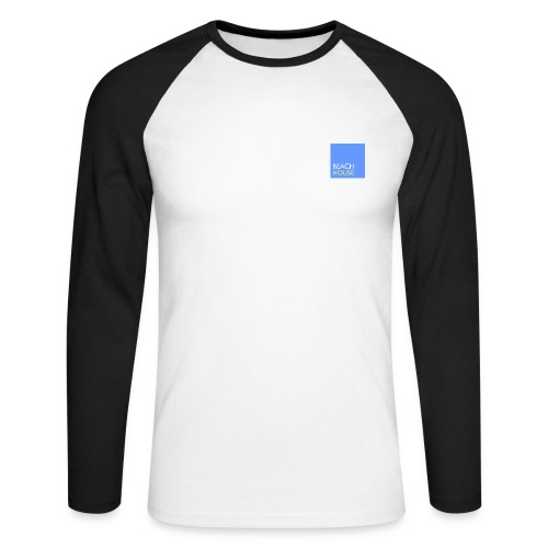 Blue Summer Logo - Men's Long Sleeve Baseball T-Shirt