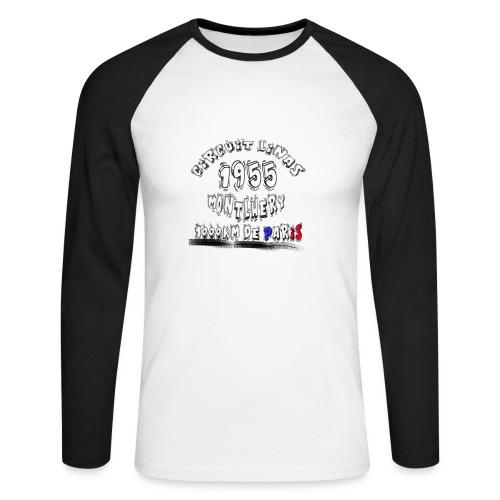 Les anciennes courses automobile - T-shirt baseball manches longues Homme