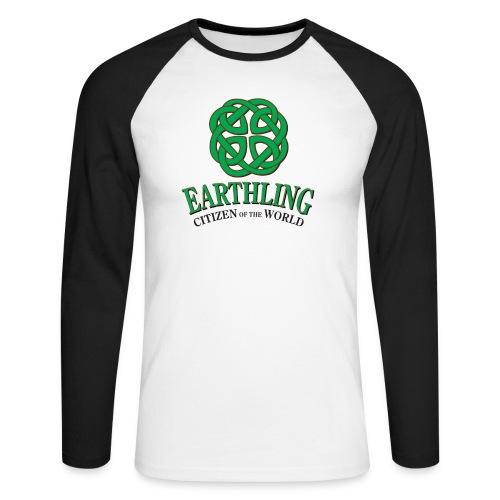 Earthling - Citizen of the World - Långärmad basebolltröja herr