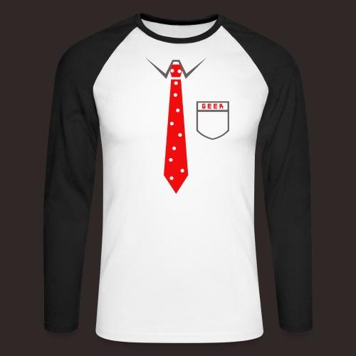 Geek   Schlips Krawatte Wissenschaft Streber - Männer Baseballshirt langarm