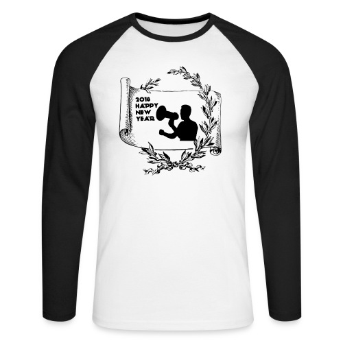 Happy New Year 2018 - T-shirt baseball manches longues Homme