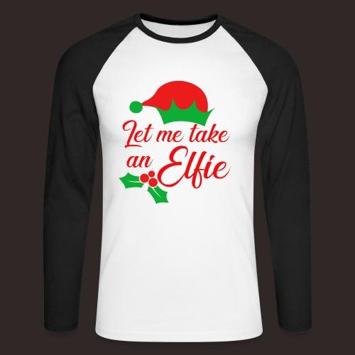 Weihnachten   Elf Mütze Weihnachtself Wortspiel - Männer Baseballshirt langarm