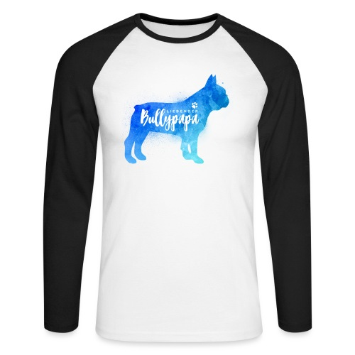 Liebender Bullypapa - Französische Bulldogge - Männer Baseballshirt langarm