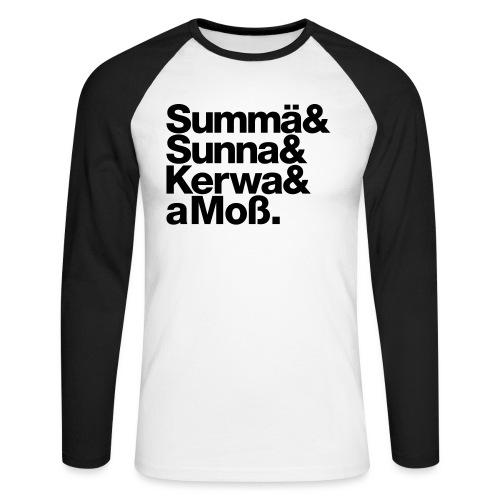 Summä Sunna Kerwa und aMo - Männer Baseballshirt langarm