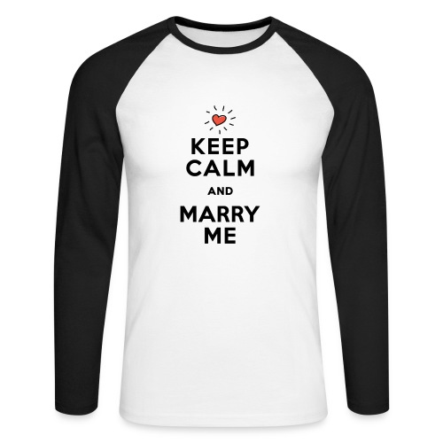 MARRY ME - Männer Baseballshirt langarm