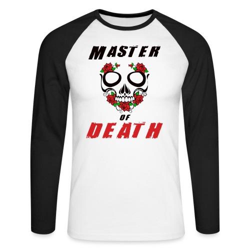 Master of death - black - Koszulka męska bejsbolowa z długim rękawem
