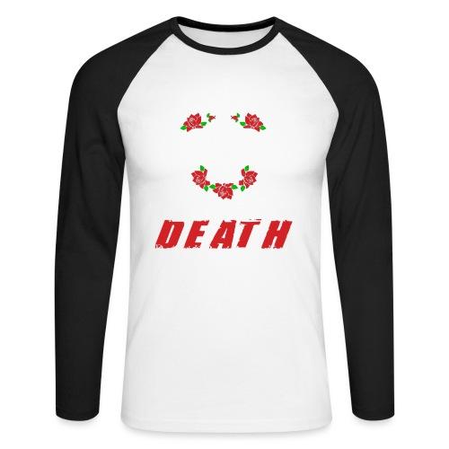 Master of death - white - Koszulka męska bejsbolowa z długim rękawem