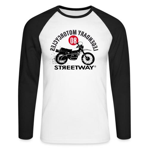 M045 - T-shirt baseball manches longues Homme