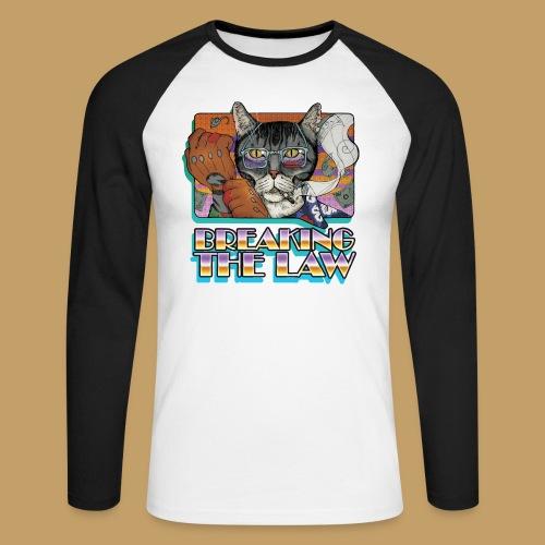 Crime Cat- Breaking the Law - Koszulka męska bejsbolowa z długim rękawem