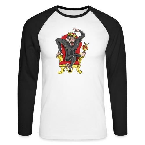 Bitcoin Monkey King - Beta Edition - Männer Baseballshirt langarm