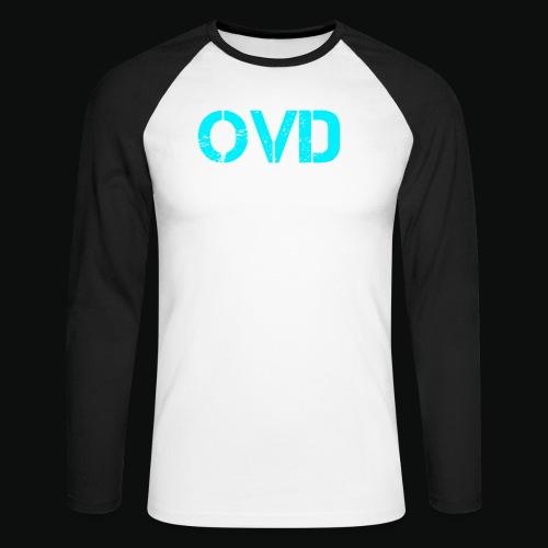 ovd blue text - Men's Long Sleeve Baseball T-Shirt