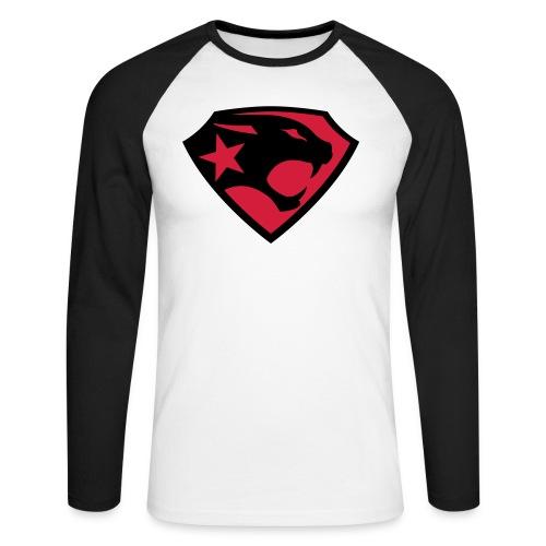 SUPER BLACK PANTHER - Männer Baseballshirt langarm