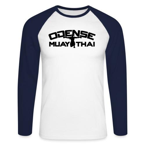 OMT LOGO2012 SORT 08 08 2 2 - Langærmet herre-baseballshirt