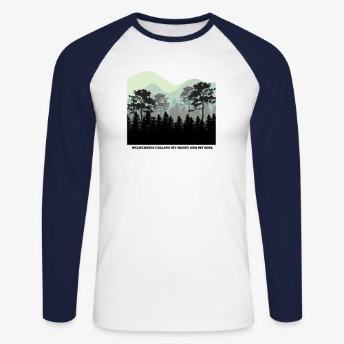 wearenature2 - Men's Long Sleeve Baseball T-Shirt