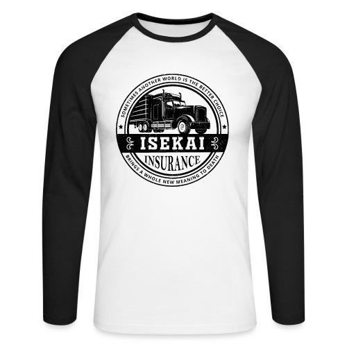 Funny Anime Shirt Isekai insurance Co. - Black - Mannen baseballshirt lange mouw