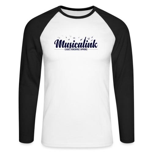 Musicalink blue - T-shirt baseball manches longues Homme