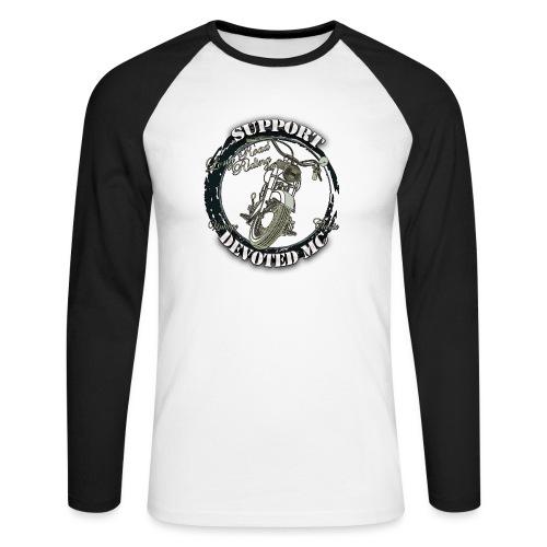 T-Shirt DEVOTEDMC SUPPORTSHOP10007 - Langermet baseball-skjorte for menn