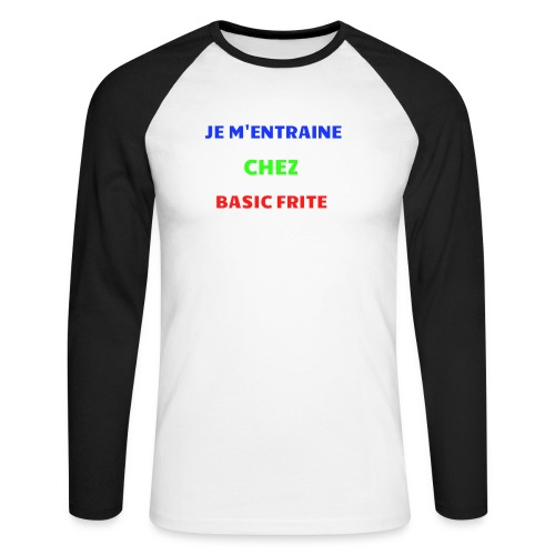Basic Frite - T-shirt baseball manches longues Homme