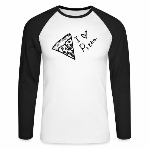 I LOVE PIZZA - Männer Baseballshirt langarm