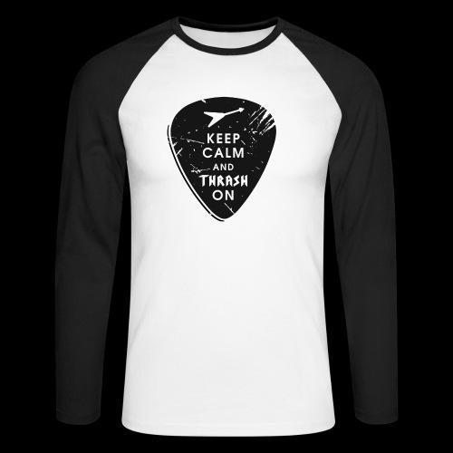 Keep calm and thrash on - Männer Baseballshirt langarm