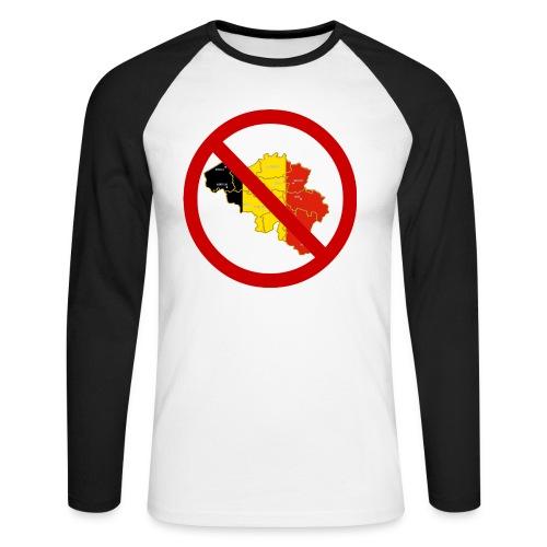 umbfront - Langermet baseball-skjorte for menn