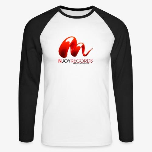 Logo Njoy Records Noir - T-shirt baseball manches longues Homme
