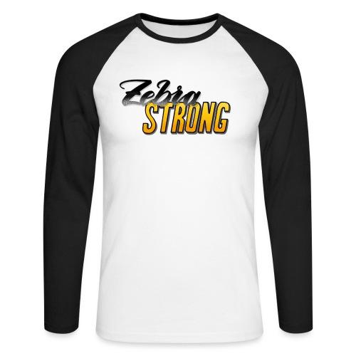 Zebra Strong - Männer Baseballshirt langarm
