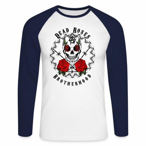Dead Roses 2nd Logo - Men's Long Sleeve Baseball T-Shirt