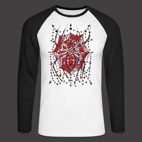 Spider Dentelle Red - T-shirt baseball manches longues Homme