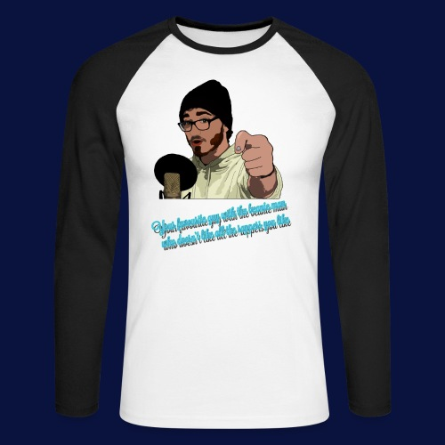 Your Favourite Beanie Man - Men's Long Sleeve Baseball T-Shirt