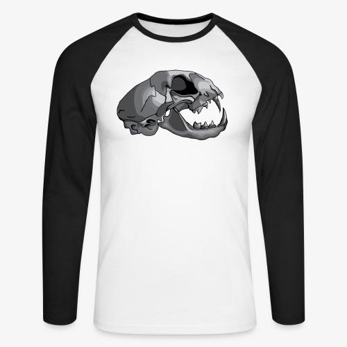 cat skull - Men's Long Sleeve Baseball T-Shirt