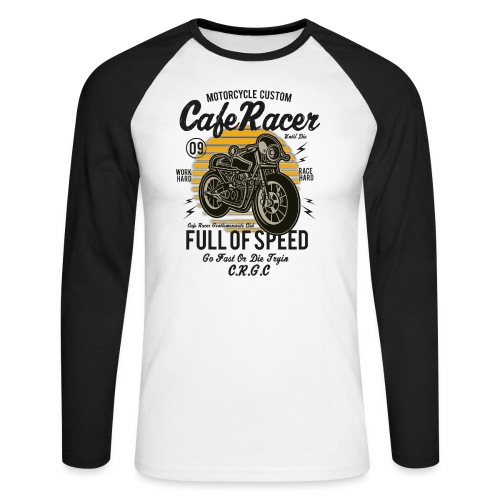 Full of speed - Men's Long Sleeve Baseball T-Shirt