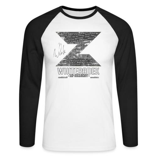 ZK COMMUNITY LOGO VER.01 - BLACK SIGNED - Männer Baseballshirt langarm