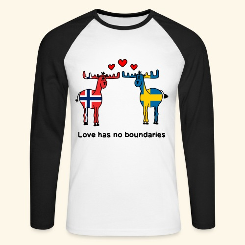 Love has no boundaries Scandinavia Norwegen Sweden - Männer Baseballshirt langarm