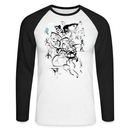 art of shaolin - Men's Long Sleeve Baseball T-Shirt