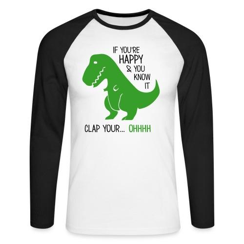 Dinosaurier - Männer Baseballshirt langarm