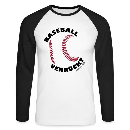 baseball-verrückt - Männer Baseballshirt langarm