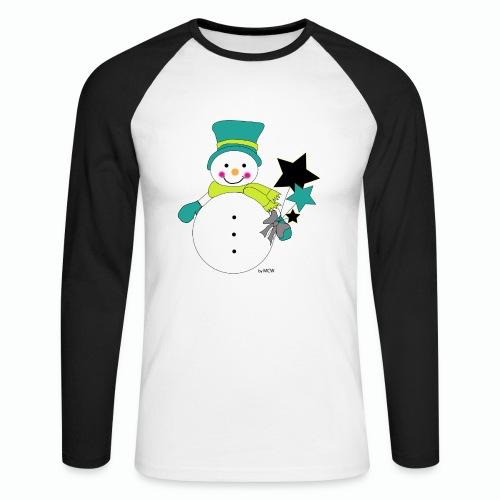 Snowtime-Green - Männer Baseballshirt langarm