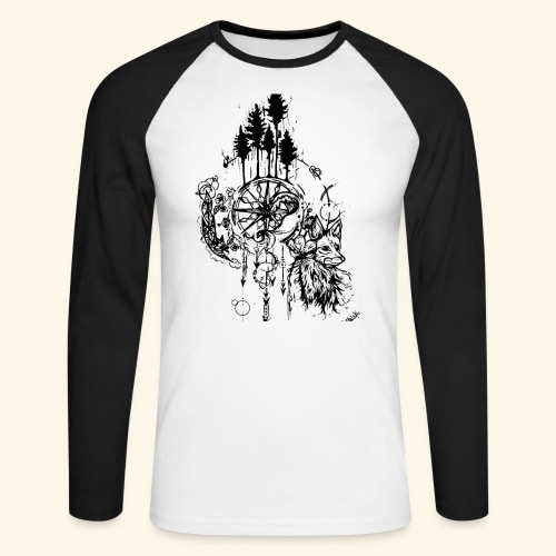 renard nature - T-shirt baseball manches longues Homme