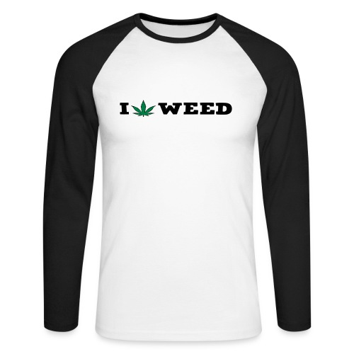 I LOVE WEED - Men's Long Sleeve Baseball T-Shirt