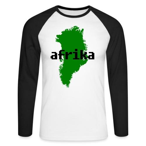 Afrika Nunaat png - Men's Long Sleeve Baseball T-Shirt
