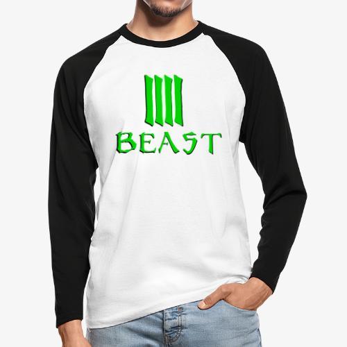 Beast Green - Men's Long Sleeve Baseball T-Shirt