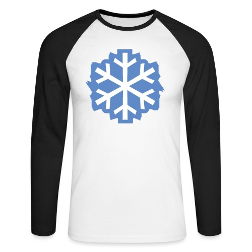 Snowflake Baseball Tee - Men's Long Sleeve Baseball T-Shirt