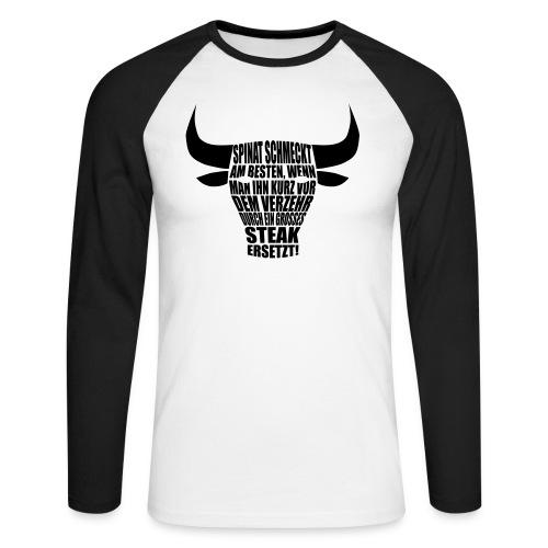 steak - Männer Baseballshirt langarm